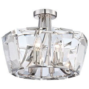 Castle Aurora 8-Light Semi Flush Mount by Metropolitan by Minka