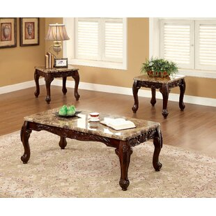 Astoria Grand Record Traditional 3 Piece Coffee Table Set