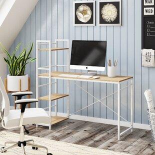 Woodley Solid Wood Modern Desk by Ebern Designs Herry Up