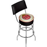 Corona Vintage Swivel Bar Stool with Back by Trademark Global