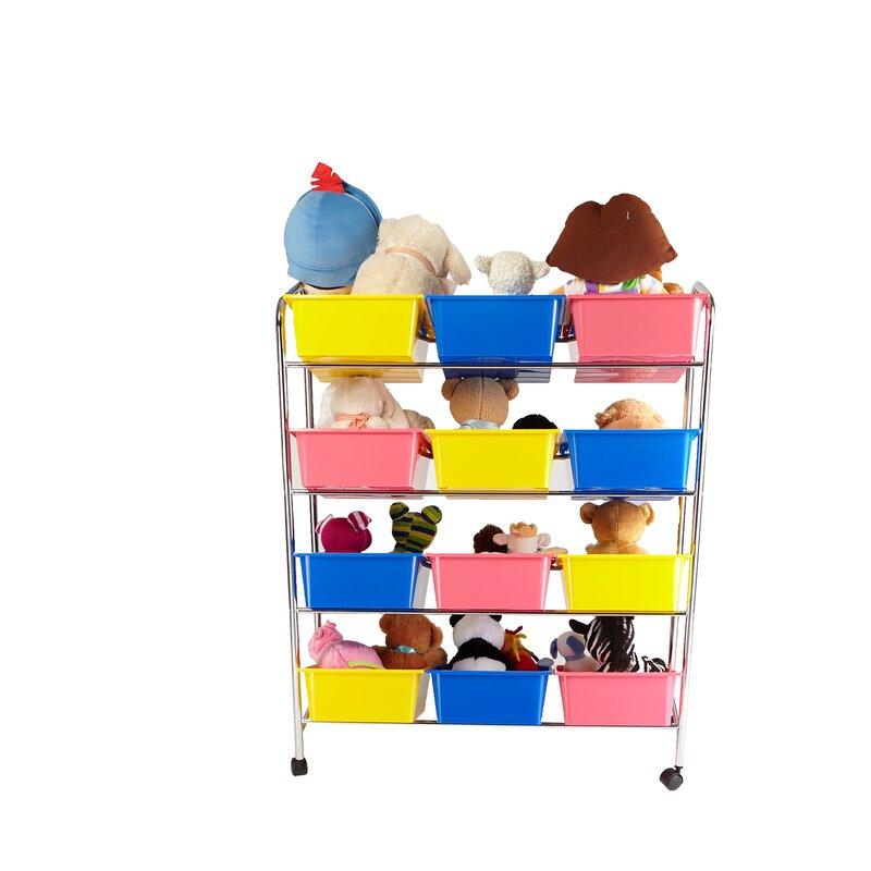 12 Drawer Rolling Toy Organizer