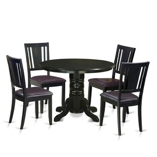 Sherlock 5 Piece Solid Wood Dining Set August Grove