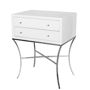 Great choice 2 Drawer End Table by Worlds Away