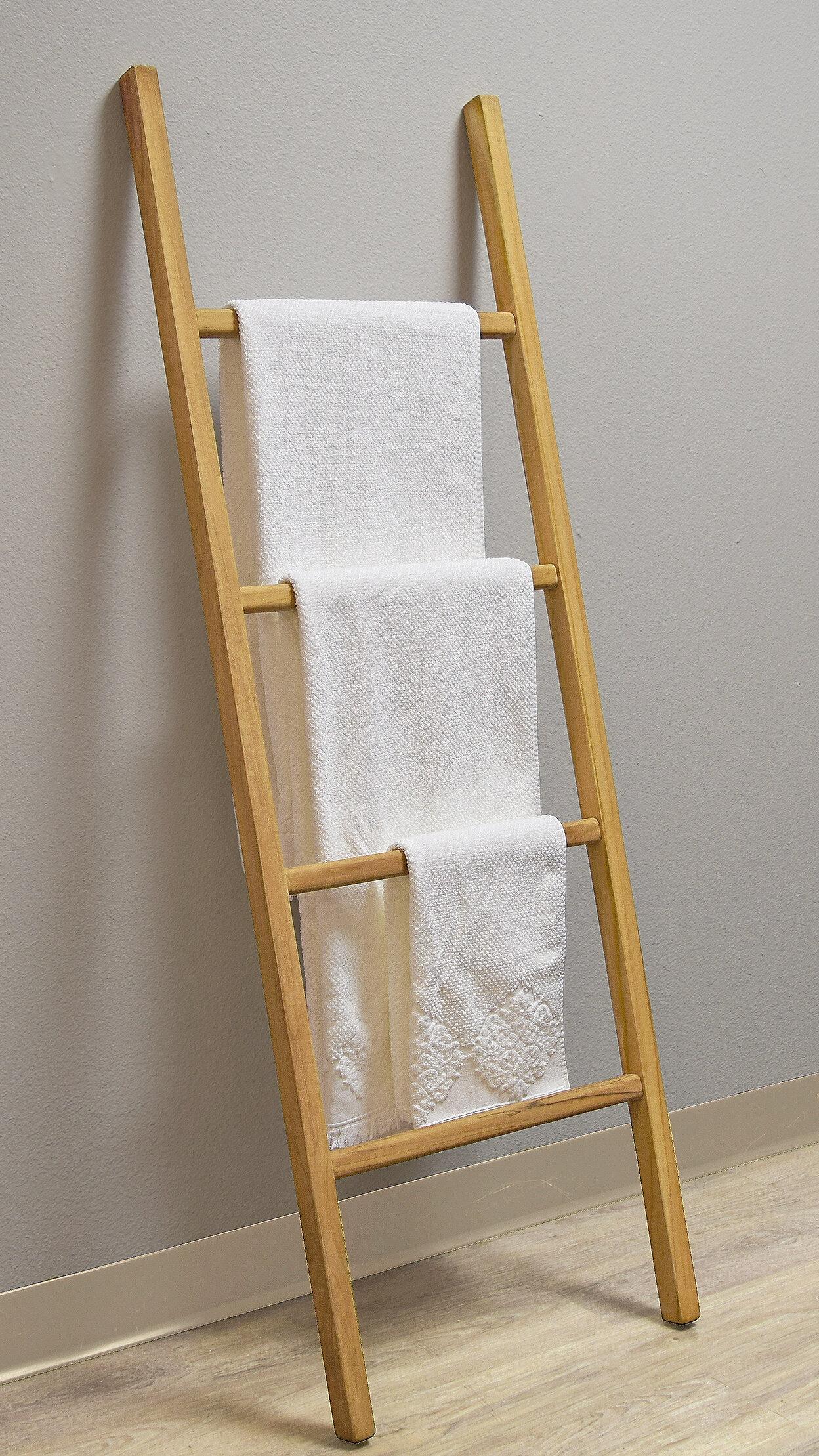 Spa Teak Ladder Towel Rack