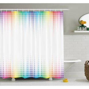 Art Musical Volume Tone Abstract Picture Little Square Mosaic Tiles Shower Curtain Set