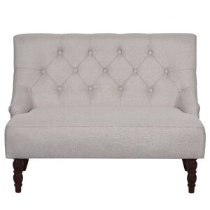 Tufted Linen Upholstered Loveseat