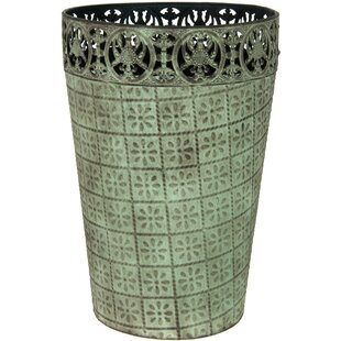 Oriental Furniture Metal Waste Basket