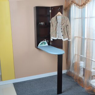 Mon Cheri Wooden Mirrored Built In Ironing Board