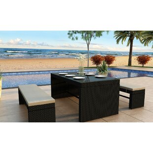 Skyline 3 Piece Dining Set with Cushions