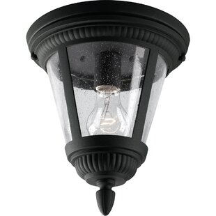 Triplehorn 1-Light Traditional Flush Mount by Alcott Hill