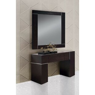 Charmant Clower Wall Console Table And Mirror Set