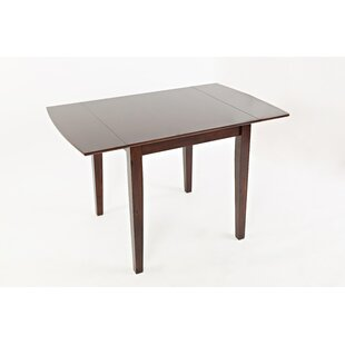 Edelstein Contemporary Wooden Drop Leaf Dining Table Winston Porter