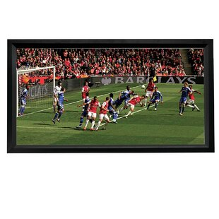 Buying HDTV Format White 110 Fixed Frame Projection Screen By Artistic Products