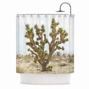 'Joshua Tree' Photography Single Shower Curtain