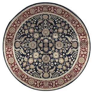 Deals One-of-a-Kind Sultanabad Handwoven Round 9'10 Wool Red/Black Area Rug By Bokara Rug Co., Inc.