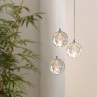 Riverdale 3-Light LED Cluster Pendant by Orren Ellis