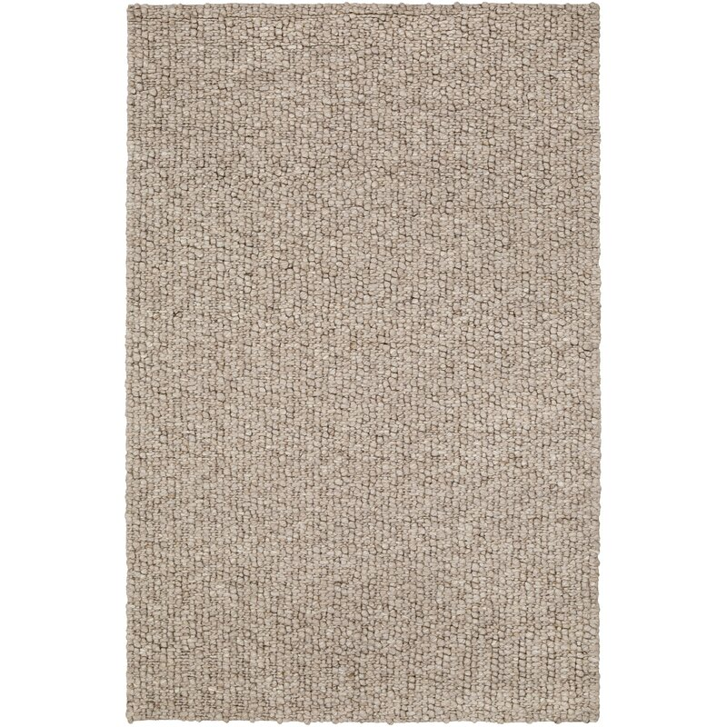 Barden Textured Hand Knotted Wool Taupe