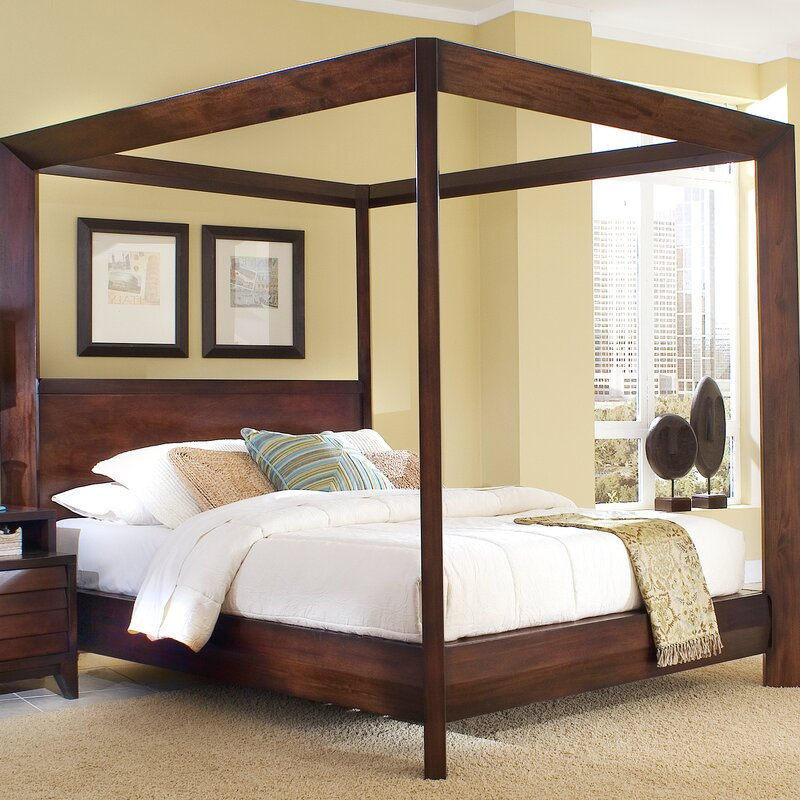 Poster Canopy Bed home image island canopy bed & reviews | wayfair