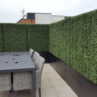Artificial Green Living Wall Hedge Plant Panel In Outdoor UV Stable 100x100cm
