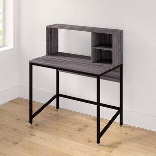 Desalvo 2 Shelg Writing Desk with Hutch