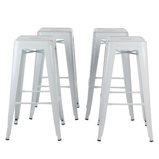 Norberg Metal Industrial 30 Bar Stool (Set of 4) Brayden Studio