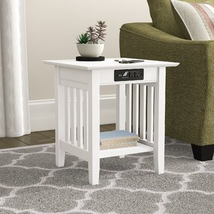 Amethy Charging Station End Table