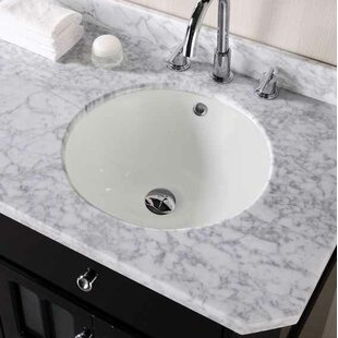 Affordable CUPC Ceramic Circular Undermount Bathroom Sink with Faucet and Overflow ByAmerican Imaginations