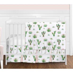 Online Reviews Cactus Floral 4 Piece Crib Bedding Set BySweet Jojo Designs