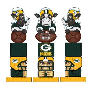 NFL Green Bay Packer Tiki Totem Figurine