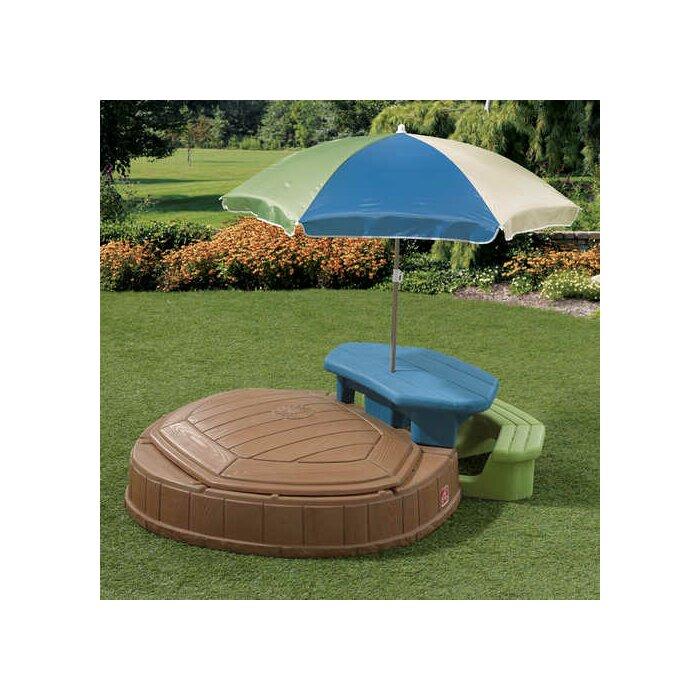 Naturally Playful Summertime Play Center 4 75 Ft W Octagon Sandbox