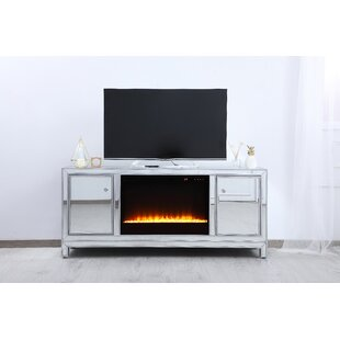 Abbotsford Mirrored TV Stand for TVs up to 22 with Fireplace