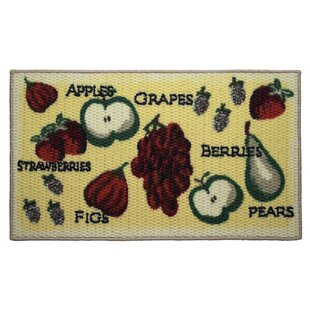 Textured Loop Tossed Fruits Kitchen Area Rug by Structures