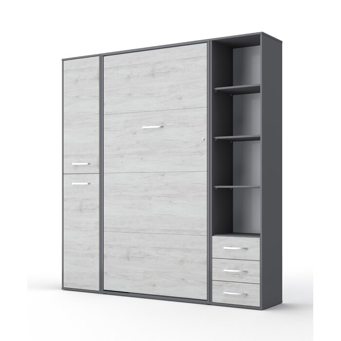Beeman Vertical Twin Murphy Bed With Mattress