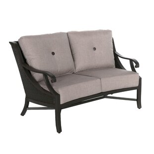Stadler Curved Loveseat with Cushions