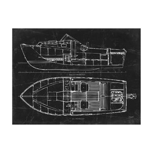 Framed boat blueprints wayfair boat blueprint 2 graphic art print malvernweather Gallery