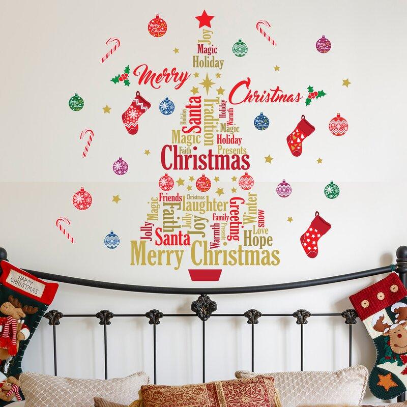Wandtattoo Englisch Zitate Frohe Weihnachten