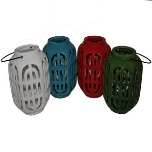 Top Reviews Ceramic Lantern (Set of 4) By Bloomsbury Market