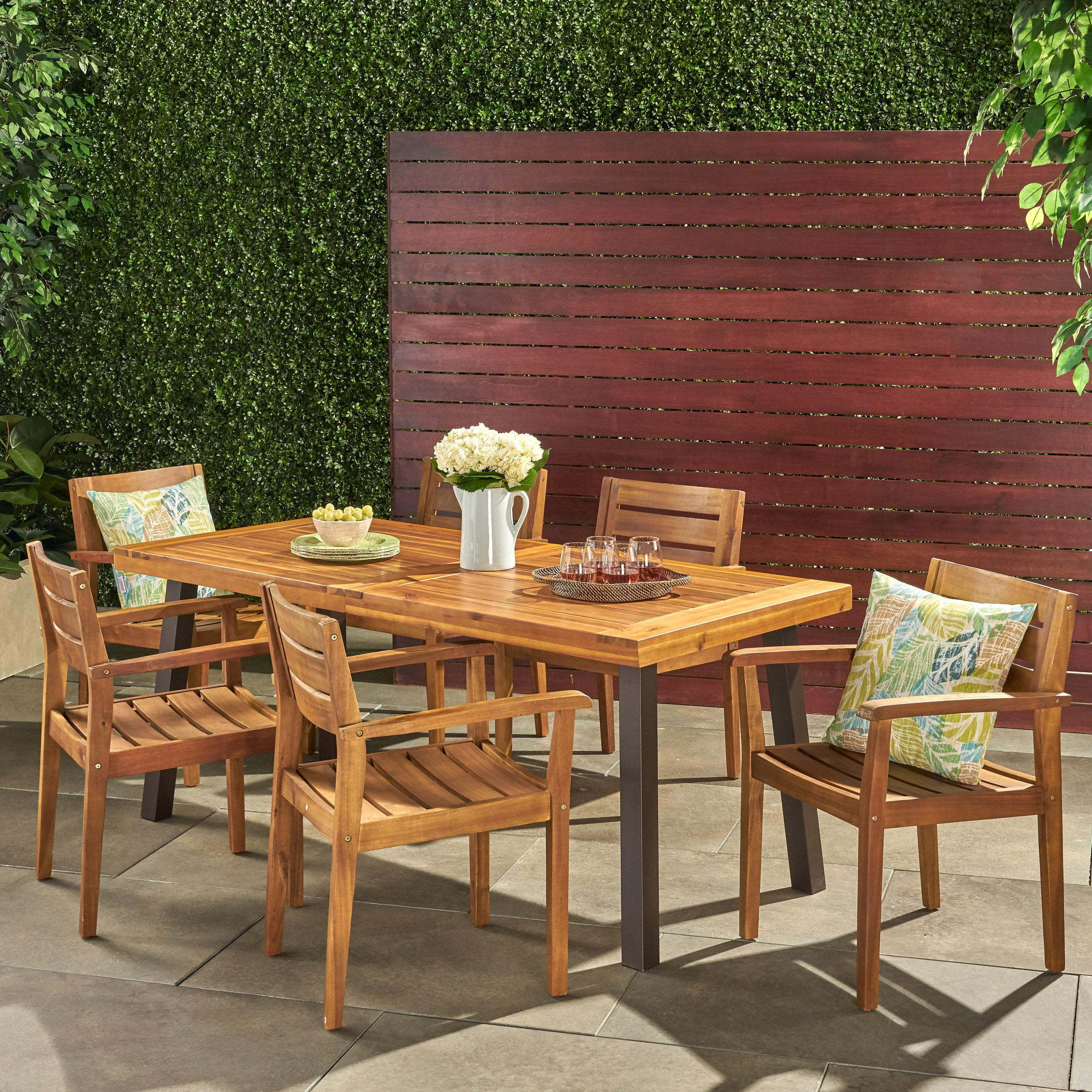 7 Piece Teak Outdoor Dining Set