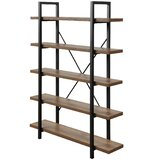 Pepe 5-Tier Etagere Bookcase by 17 Stories