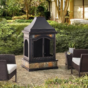 Sunjoy Monroe Steel Wood Burning Outdoor ..