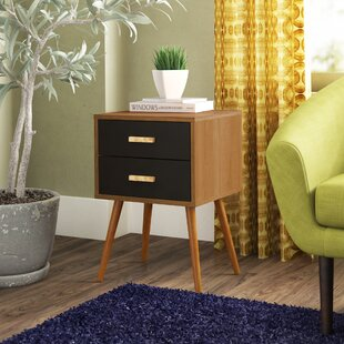 Affordable Creenagh 2 Drawer End Table By Langley Street