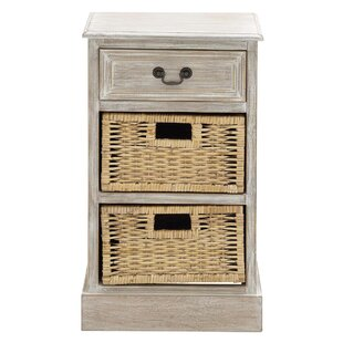 Urban Designs 3 Drawer Nightstand