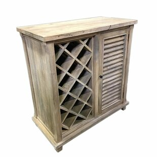 Irvings Durable Wooden Floor Wine Rack by Rosecliff Heights