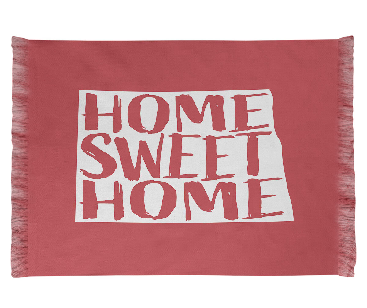 East Urban Home Home Sweet North Dakota Red Area Rug Wayfair