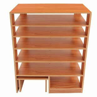 Solid Wood 12 Pair Shoe Rack Rebrilliant