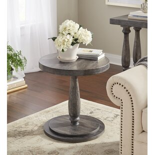 Knowsley Circular End Table by Gracie Oaks