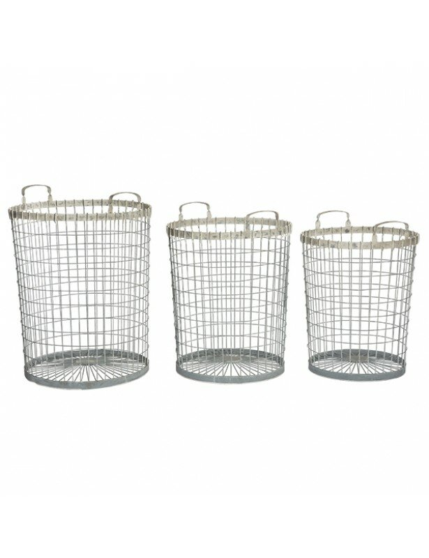 Alnwick Metal/Wire 3 Piece Baskets Set By Aidan Gray