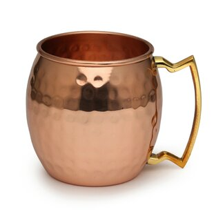 The Classic Shiny Hammered Pure Copper 16 Oz. Mug