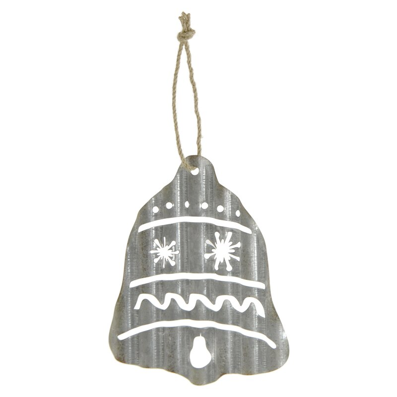 The Holiday Aisle Galvanized Bell Holiday Shaped Ornament Reviews Wayfair