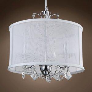 Stony Stratford 3-Light LED Drum Chandelier